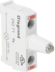 Блок контактов со светодиодом 230В для головок под винт красн. Osmoz Leg 024271