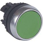 023842, Головка включение-выключение с потайным толкателем, цвет зеленый