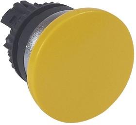 Головка для кнопки грибовидная с пруж. возвр. d40мм желт. Osmoz Leg 023837