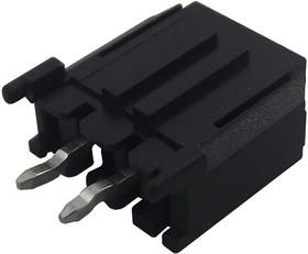 2261(5561)SA-02, Разъем типа провод-плата, вертикальный, 3 мм, 2 контакт(-ов), Штыревой Разъем, Серия 2261(5561)