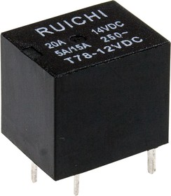 T78(T74) 12VDC 10A, Реле электромагнитное