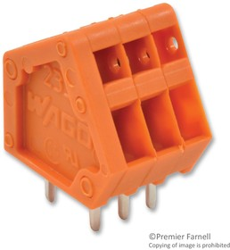 233-403, TERMINAL BLOCK, PCB, 3 POSITION, 28-20AWG