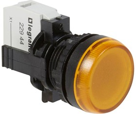 Индикатор в сборе 230В d22.3мм под винт желт. Osmoz Leg 023794
