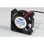 Вентилятор постоянного тока 12 Вольт, подшипник скольжения, 6000об/мин ...