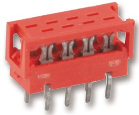 7-215570-6, Разъем типа провод-плата, Серия Micro-MaTch, 6 контакт(-ов), Штекер, 1.27 мм, Пайка, 2 ряд(-ов)