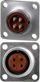 2PM18-4ZKQB2, розетка на корпус 4 контакта (аналог 2РМДТ18Б4Г5В1В)