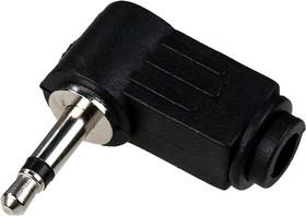 """1-054, Разъем аудио 3.5мм """"шт"""" моно угловойпластик на кабель"""