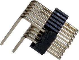 L-KLS1-207D-12-R, вилка штыревая 2х6 угл.