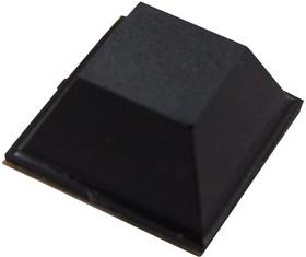 Фото 1/2 F-3581, Резиновая прокладка / ножка, клейкие, Клейкий, PU (Полиуретан), 5.59 мм, Квадратная, Черный