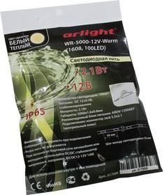 017999 WR-5000-12V-WARM, светодиодная нить, 12V(1608, 100 LED) (5м)