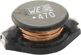 74458147, Силовой Индуктор (SMD), 47 мкГн, 2.6 А, Неэкранированный, 4.5 А, Серия WE-PD4