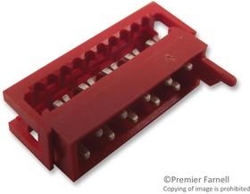 690157001072, Разъем типа провод-плата, свободный, 2.54 мм, 10 контакт(-ов), Штекер, Серия WR-MM, IDC / IDT