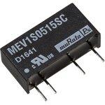 MEV1S0515SC, DC/DC преобразователь, 1 Вт, вход 4.5-5.5В, выход 15в/67мА, SIP