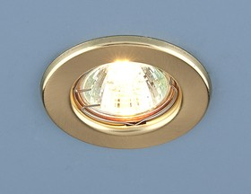 Фото 1/2 9210 MR16 SGD / Светильник встраиваемый золото матовое