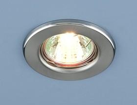Фото 1/2 9210 MR16 SCH / Светильник встраиваемый хром сатинированный