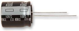 EEUED2D221, Электролитический конденсатор, 220 мкФ, 200 В, Серия ED, ± 20%, Радиальные Выводы, 18 мм