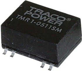 TMR 1-0523SM, Module DC-DC 5VIN 2-OUT 15V/-15V 0.033A/-0.033A 1W 7-Pin SMD