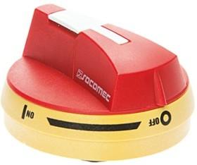 14042111, Handle Red, Yellow I-O IP