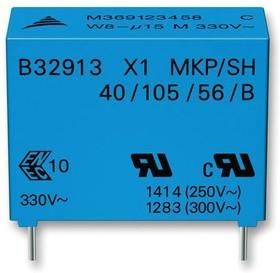 B32911B3223M000, Конденсатор Безопасности, 22000 пФ, X1, Серия B32911, 330 В, Metallized PP