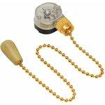 32-0106, Выключатель для настенного светильника c деревянным наконечником «Gold»