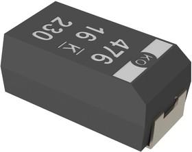 T520B476M006ATE025, TANTALUM CAPACITOR, 47UF 6.3V 0.025 OHM 20%, 3528-21