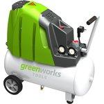 Компрессор электро GREENWORKS GAC24L (4101807) поршневой ...