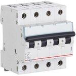 404070, Выключатель автоматический четырехполюсный 16А C TX3 6kA