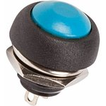 Фото 2/2 36-3051, Выключатель-кнопка 250V 1А (2с) (ON)-OFF Б/Фикс синяя Micro (PBS-33В)