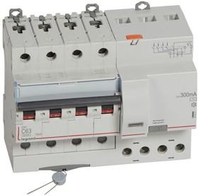Выключатель автоматический дифференциального тока 4п C 63А 300мА тип AC 10кА DX3 7мод. Leg 411211