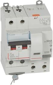 Выключатель автоматический дифференциального тока 2п C 25А 30мА тип AC 10кА DX3 4мод. Leg 411160