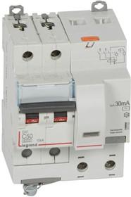 Выключатель автоматический дифференциального тока 2п C 50А 30мА тип AC 10кА DX3 4мод. Leg 411163