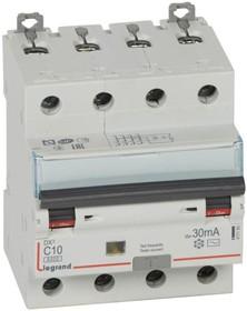 Выключатель автоматический дифференциального тока 4п C 10А 30мА тип AC 10кА DX3 Leg 411185