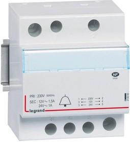 Трансформатор звонка CX3 230В/8-24В 24Вт Leg 413093