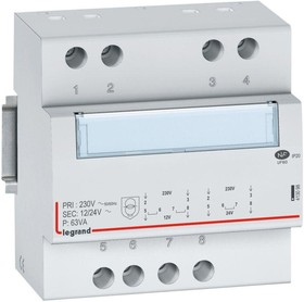 Трансформатор безопасности CX3 230В/8-24В 63Вт Leg 413098