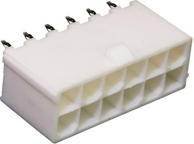39-31-0120, Разъем типа провод-плата, 4.2 мм, 12 контакт(-ов), Гнездо, Mini-Fit Jr. 5566 Series