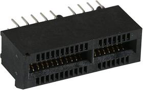 Фото 1/2 87715-9106, Card Edge Connector, PCIE, Dual Side, 1.57 мм, 64 Contacts, Монтаж в Сквозное Отверстие, Straight