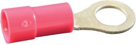 Фото 1/2 19070-0021, Клемма с кольцевым наконечником, M5, #10, 18 AWG, 0.8 мм², InsulKrimp 19070 Series, Красный