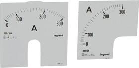 Шкала к амперметру 0-300А Leg 014617