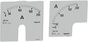 Шкала к амперметру 0-200А Leg 014615