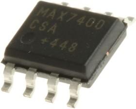 Фото 1/4 MAX7400CSA+, Перестраиваемый эллиптический НЧ фильтр 8-го порядка на переключаемых конденсаторах [SOIC-8]