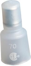 Фото 1/2 19160-0002, Изоляционный колпачок, 19160 Series, Обжим, 16 AWG, 10 AWG, Натуральный