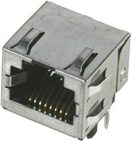43860-0006, Модульный разъем, Modular Jack, 1 x 1 Port, 6P4C, Cat3, Монтаж в Сквозное Отверстие