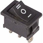 Фото 2/3 Выключатель клавишный 250В 6А (3с) ON-OFF-ON черн. с нейтралью Mini (RWB-205 SC-768) Rexant 36-2145