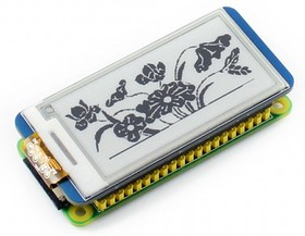 Фото 1/6 2.13inch e-Paper HAT, E-Ink дисплей 250×122px форм-фактора HAT для Raspberry Pi
