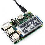 Фото 4/6 2.13inch e-Paper HAT, E-Ink дисплей 250×122px форм-фактора HAT для Raspberry Pi