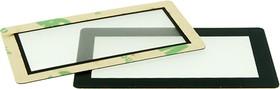 Фото 1/2 FFS45x25B-37x17F, Лицевая панель плёночная черная - 45х25 мм, матовое окно 37х17 мм