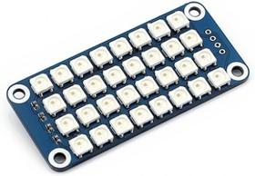 Фото 1/4 RGB LED HAT, Светодиодная матрица 4×8 RGB LED (WS2812B) форм-фактора HAT для Raspberry Pi