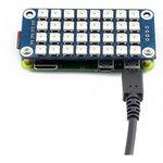 Фото 3/4 RGB LED HAT, Светодиодная матрица 4×8 RGB LED (WS2812B) форм-фактора HAT для Raspberry Pi