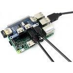 Фото 4/4 USB HUB HAT, Хаб на 4 USB порта форм-фактора HAT для Raspberry Pi