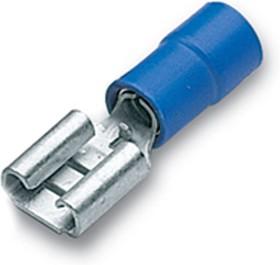 """BF-F405 Кабельный наконечник """"мама"""", изолированный поликарбонатом - частично упрочнен медной втулкой, синий, сечение проводника 1,5-2,5 мм2"""